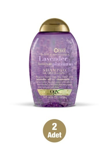 Organix Lavender Platinium Boyalı Saç şampuanı 385 ml X2 Adet Renksiz